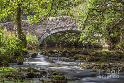 Humpback Bridge Photograph - Clearbrook River Meavy by Donald Davis