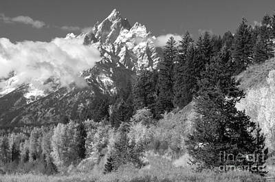 Photograph - Clearing Storm On Grand Teton  by Sandra Bronstein