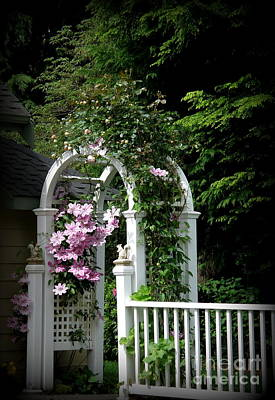 Clematis Arch Art Print by Tanya  Searcy