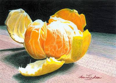 Print featuring the painting Clementine by Ana Tirolese