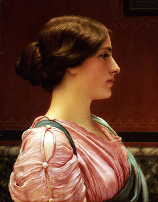 Femal Portrait Painting - Cleonice by John William Godward