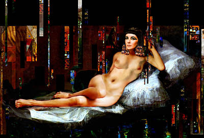 Painting - Cleopatra Nude by Karine Percheron-Daniels