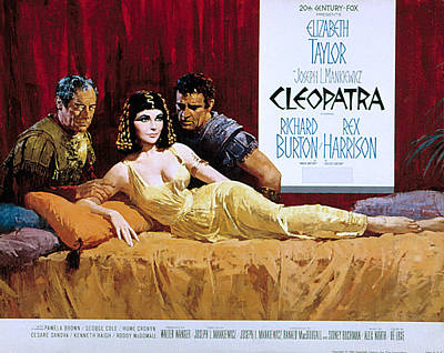 Posth Photograph - Cleopatra, Rex Harrison, Elizabeth by Everett