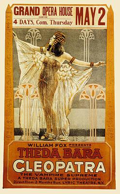 Cleopatra, Theda Bara, 1917 Art Print by Everett