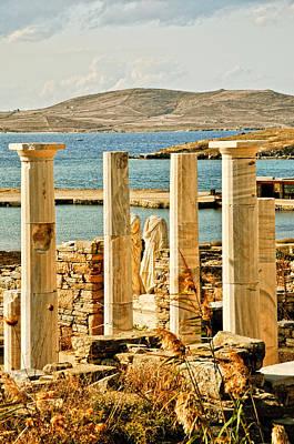 Delos Photograph - Cleopatras House On Delos by Linda Pulvermacher