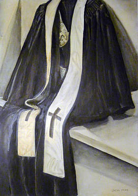 Painting - Clergy Attire by Linda Pope