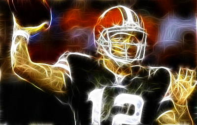 Cleveland Browns Colt Mccoy Art Print by Paul Van Scott