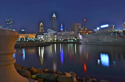 Cleveland Harbor Art Print by Frozen in Time Fine Art Photography