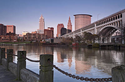 Photograph - Cleveland Skyline From The River - Landscape by At Lands End Photography