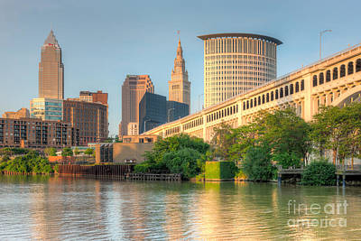 Photograph - Cleveland Skyline I by Clarence Holmes