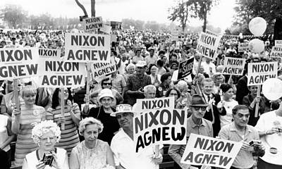 Cleveland Supporters Of The Nixon-agnew Art Print by Everett