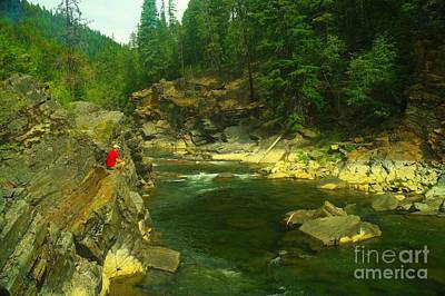 Cliff Over The Yak River Print by Jeff Swan