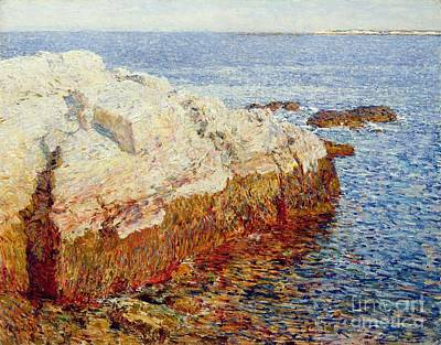 Massachusetts Coast Painting - Cliff Rock Appledore by Childe Hassam