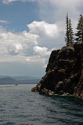 Boat Photograph - Cliff Storm Lake Tahoe by LeeAnn McLaneGoetz McLaneGoetzStudioLLCcom