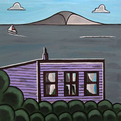 Cliff Top Art Print by Sandra Marie Adams