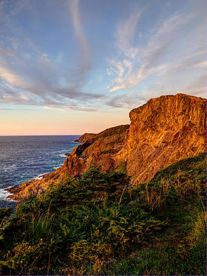 Cliffs Of White Bay Print by Stan Wojtaszek