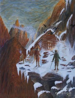 Ice Climbing Painting - Climbers Refuge by William Bezik