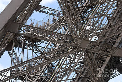 Photograph - Climbing Up The Eiffel Tower by Fabrizio Ruggeri