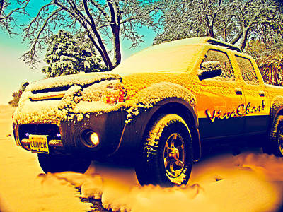 Hot Rod Photograph - Climer's White Christmas by Chas Sinklier
