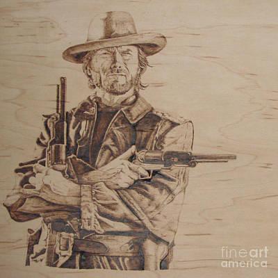Clint Eastwood Art Print by Chris Wulff