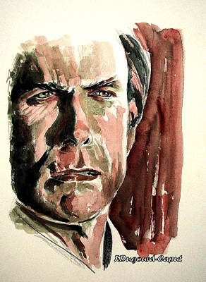 Clint Eastwood Art Print by Francoise Dugourd-Caput