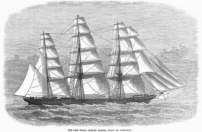 Clipper Ship, 1869 Art Print by Granger