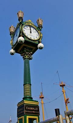 Clock At The Harbor Art Print by Christine Burdine