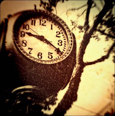 Soft Clocks Photograph - Clock In San Francisco  by Susan Stone