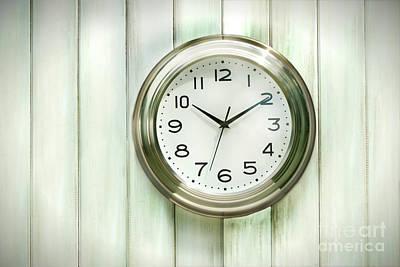 Clock On The Wall Print by Sandra Cunningham