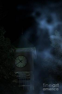 Aliens Photograph - Clock Tower Ghost by Benanne Stiens