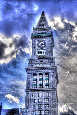 Photograph - Clock Tower Hdr by Morgan Wright