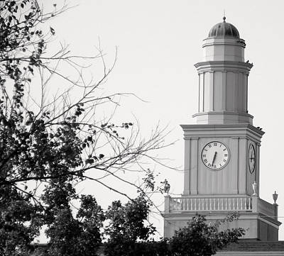 Photograph - Clock Tower I Bw by Sheri McLeroy