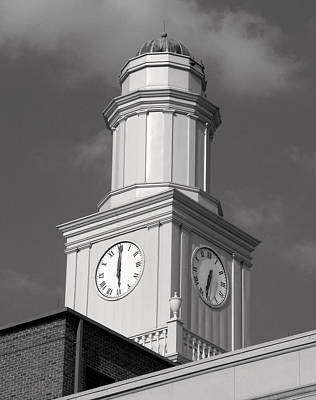 Photograph - Clock Tower I I I Bw by Sheri McLeroy
