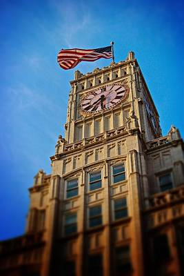Print featuring the photograph Clock Tower In Downtown Jackson 2 by Jim Albritton