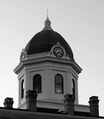 Photograph - Clock Tower Iv Bw by Sheri McLeroy