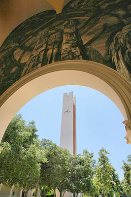 Claremont Colleges Photograph - Clock Tower by Steven Ainsworth