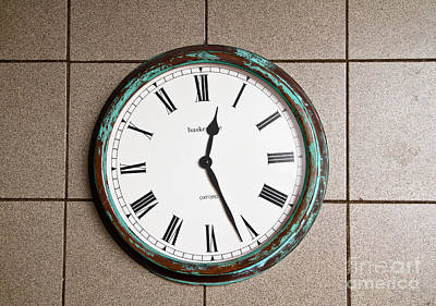 Clock With Roman Numerals Print by Photo Researchers, Inc.
