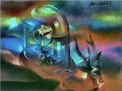 Pastel - Clockscape 1981 by Glenn Bautista