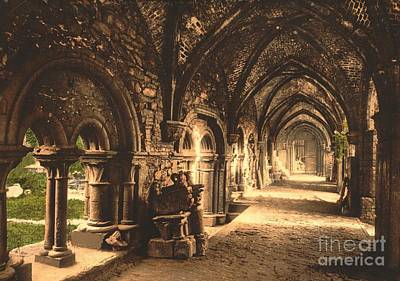 Cloister At St. Bavon Abbey Art Print by Padre Art