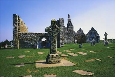 Clonmacnoise, Co Offaly, Ireland, West Print by The Irish Image Collection
