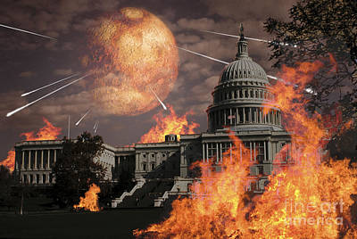 Capitol Building Digital Art - Close Approach Of Nibiru, Planet X by Ron Miller