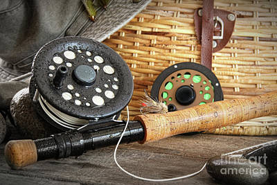 Close-up Fly Fishing Rod  Art Print by Sandra Cunningham