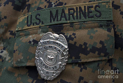 Close-up Of A Duty Master-at-arms Badge Art Print by Stocktrek Images