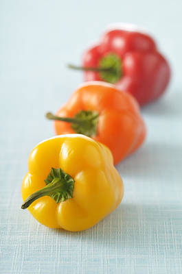Y120817 Photograph - Close-up Of Bell Peppers by Jean-Christophe Riou