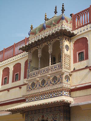 Jaipur Photograph - Close Up Of Blacony Of City Palace by Marianna Sulic