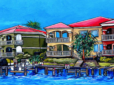 Laguna Beach Painting - Close Up Of Center Back Of Commission by Patti Schermerhorn