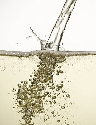 Close Up Of Champagne Being Poured Art Print by Andy Roberts