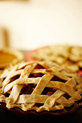 Photograph - Close-up Of Fresh Pie With Lattice Pattern Crust by Jupiterimages