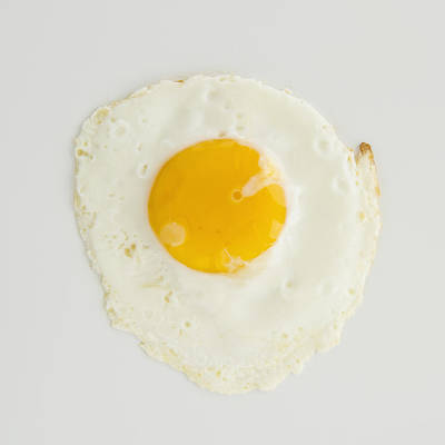 Close Up Of Fried Egg, Studio Shot Art Print