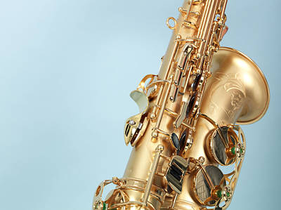 Saxophone Photograph - Close-up Of Saxophone by Svenja Kaufmann